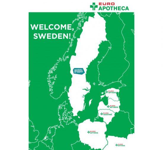 """""""Euroapotheca"""" pradeda verslą Švedijoje – pilnai užbaigė """"Apoteksgruppen"""" vaistinių tinklą valdančios bendrovės įsigijimą"""