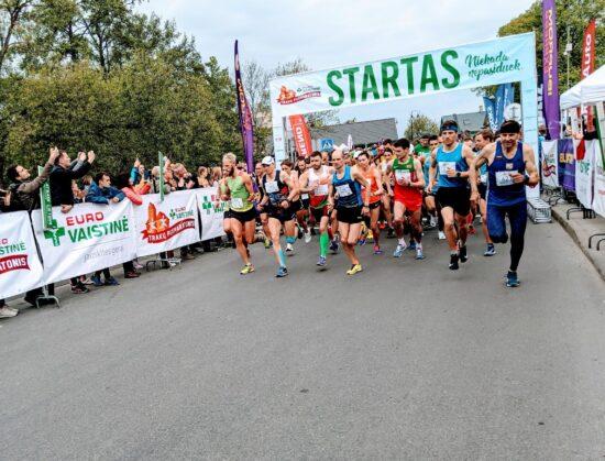 Eurovaistinė Half Marathon run in Vilnius