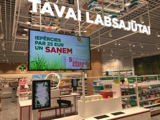Euroapotheca's the largest and most modern pharmacy in Latvia started to operate in Akropole Riga